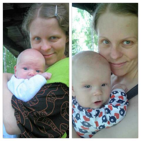 Äiti ja mussukat ja pientä juhlantynkää