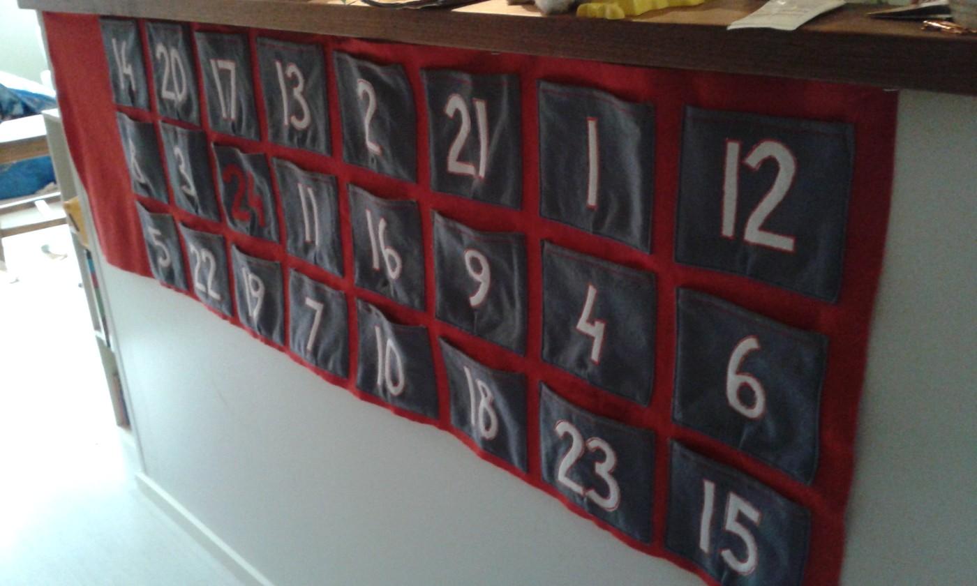 Joulukuun ensimmäinen ja kalenteri melkein valmis!