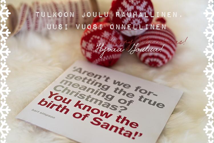 Rauhallinen + onnellinen = Joulunen