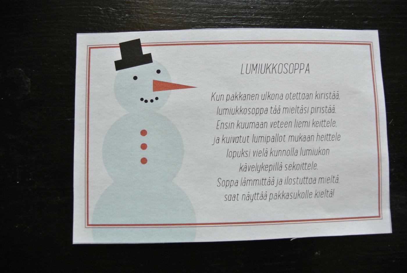 Lumiukko Runo