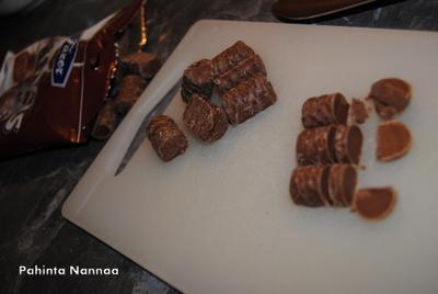 Pätkis-muffinssit suklaasydämellä