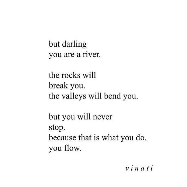 I'll never stop.