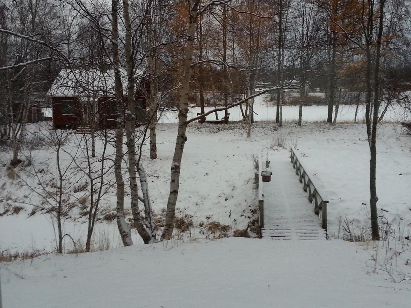 Talvi tuli mummilaan.