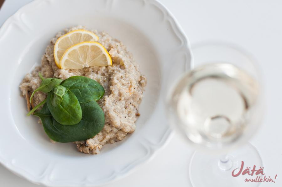 Risottoa kvinoasta