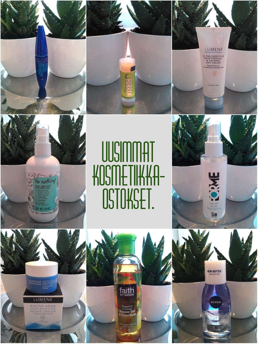 Uusimmat kosmetiikkaostokset