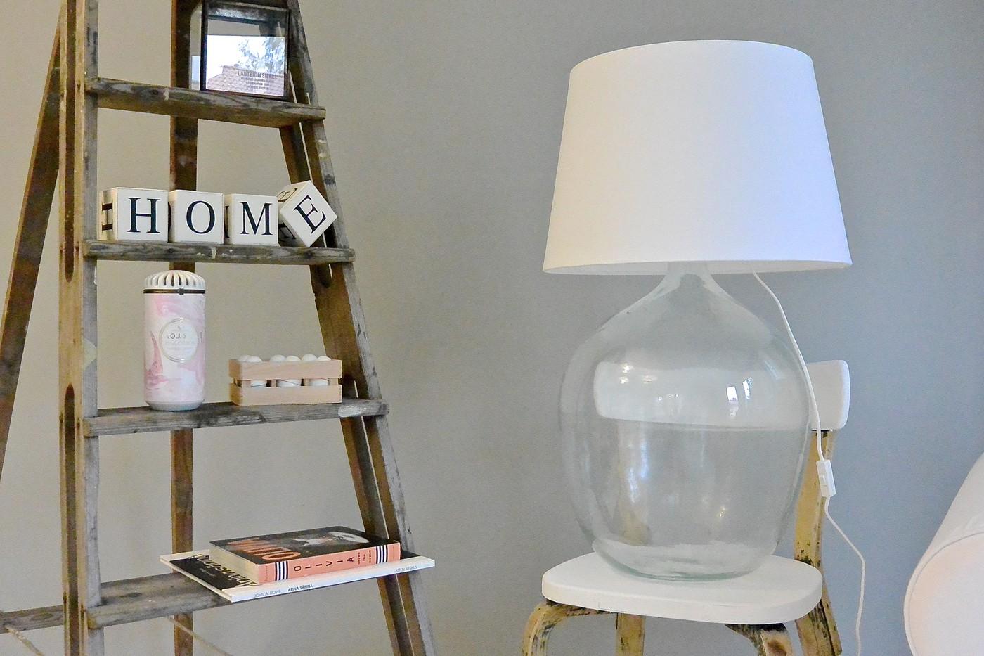 Diy lamppu + siskon kaunis olohuone