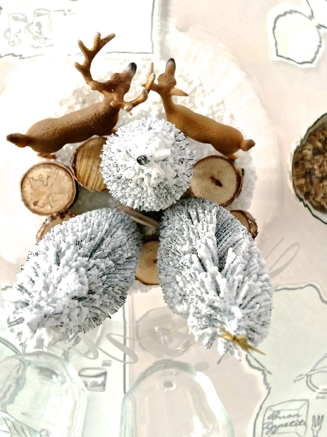 Jouluasetelma maljakossa