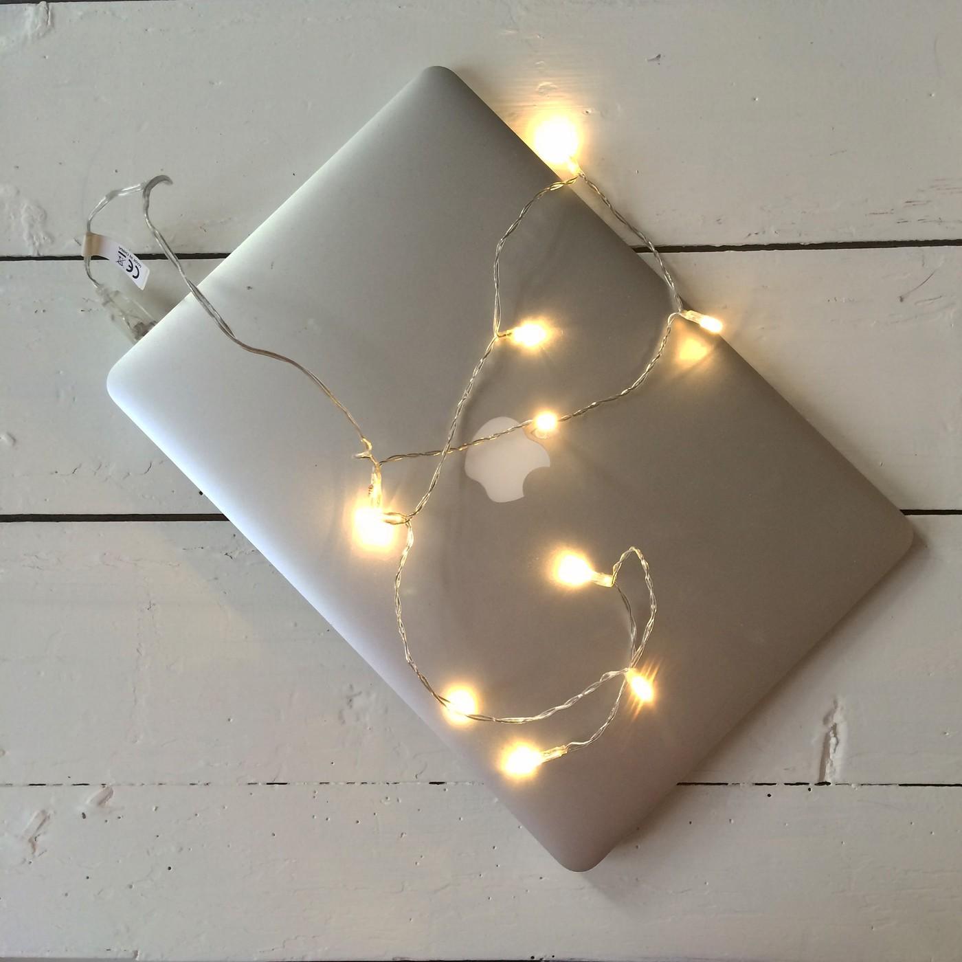 Lasimestarin silli ja tietokoneen jouluvalot
