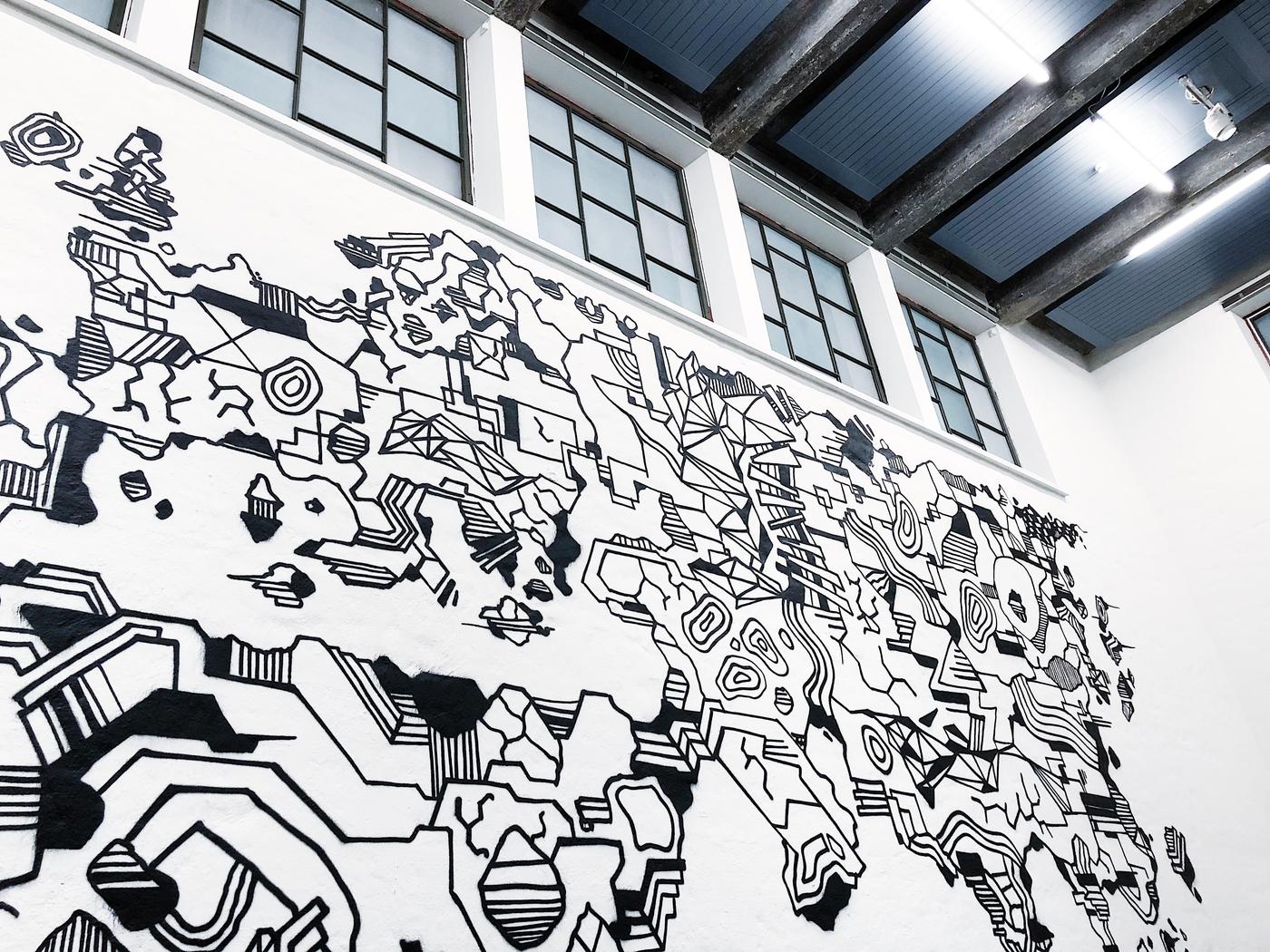 Graffititaiteilija Taidehallissa: EGS