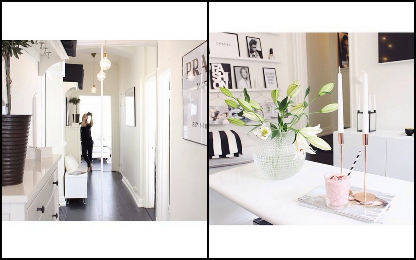 INTERIOR INSPIRATION – Black, white and powder pink