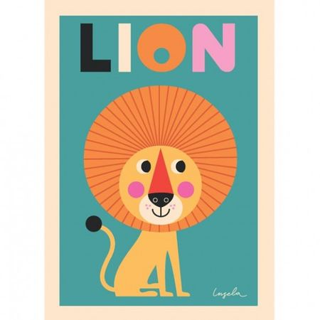 ingela-arrhenius-mr-lion-poster-by-omm-design leijona lillacompany.fi juliste 22,90E.jpg