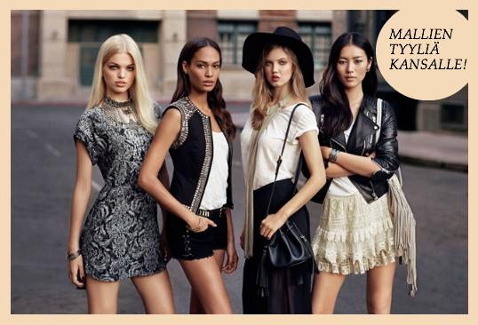 Huippumallit innoittivat uutta H&M:n kokoelmaa