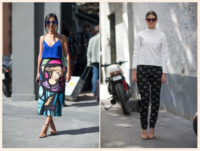 4 ajankohtaisinta katutyyliä Milanon muotiviikoilta