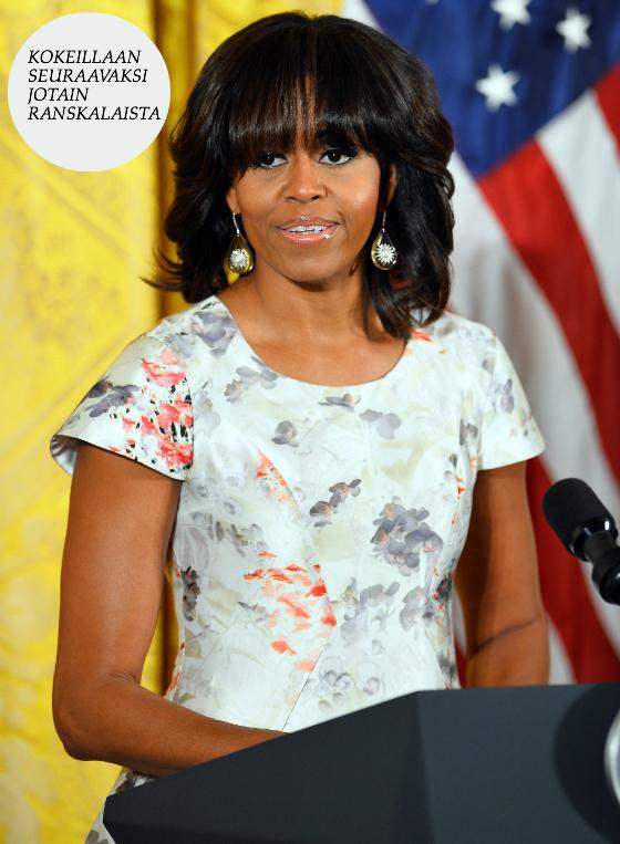 Michelle Obama paljastui Carine Roitfeldin faniksi