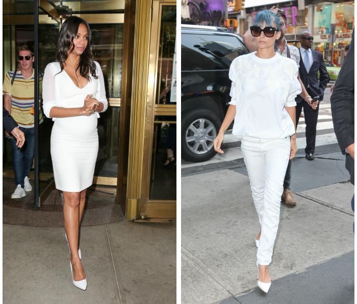 Viileän valkoinen kesäasu, eli kumpi puki paremmin?