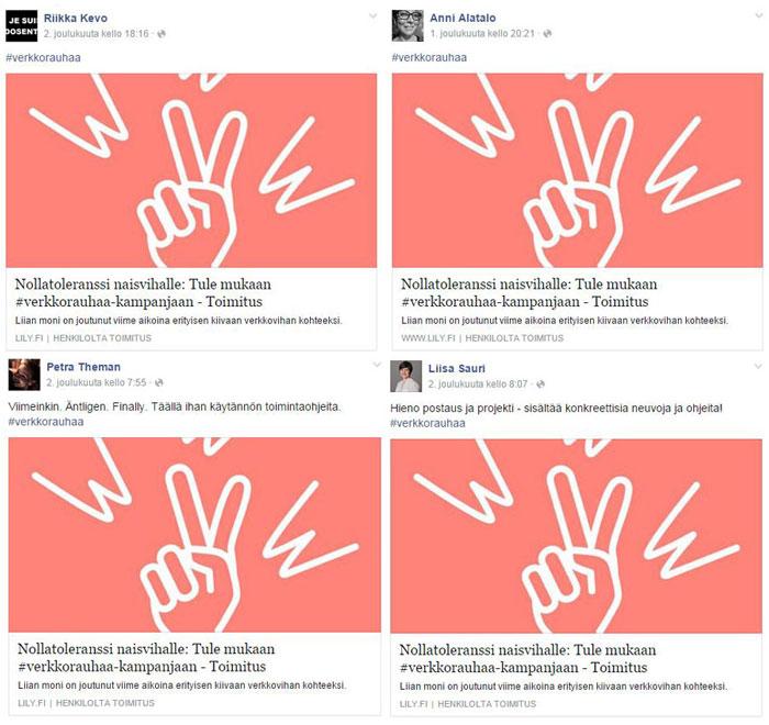 Liity sinäkin #verkkorauhaa-kampanjaan – he ovat jo mukana!