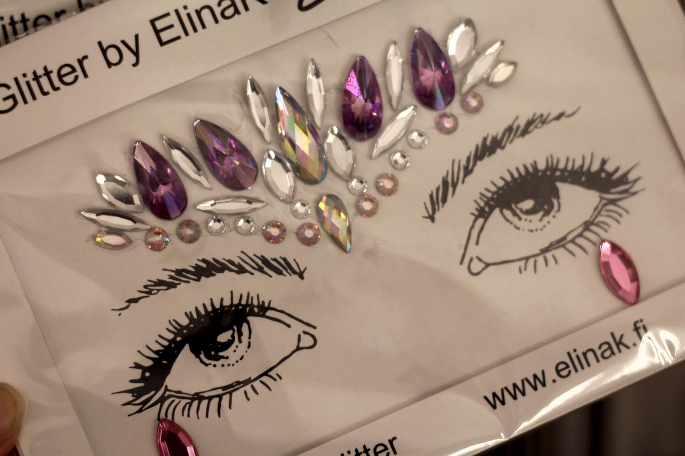 Juhlaprinsessa glitter tatuointi stensilit
