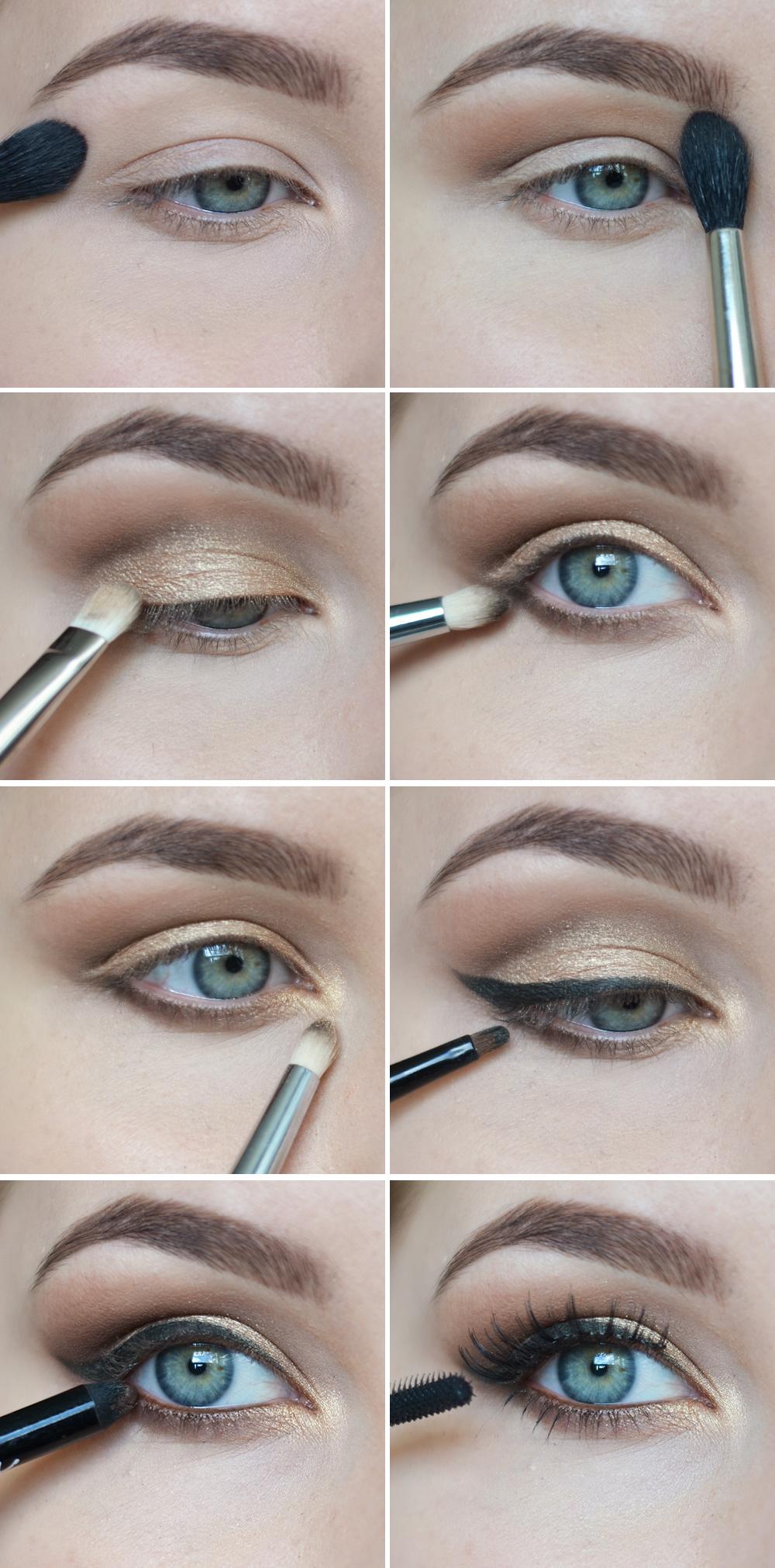 kultainen silmämeikki ohjeet