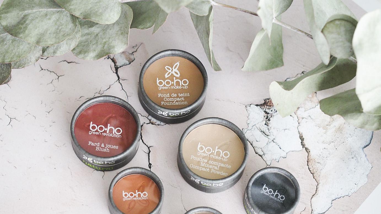 Eettinen, ekologinen, edullinen luonnonkosmetiikan meikkisarja Boho Green Make-up