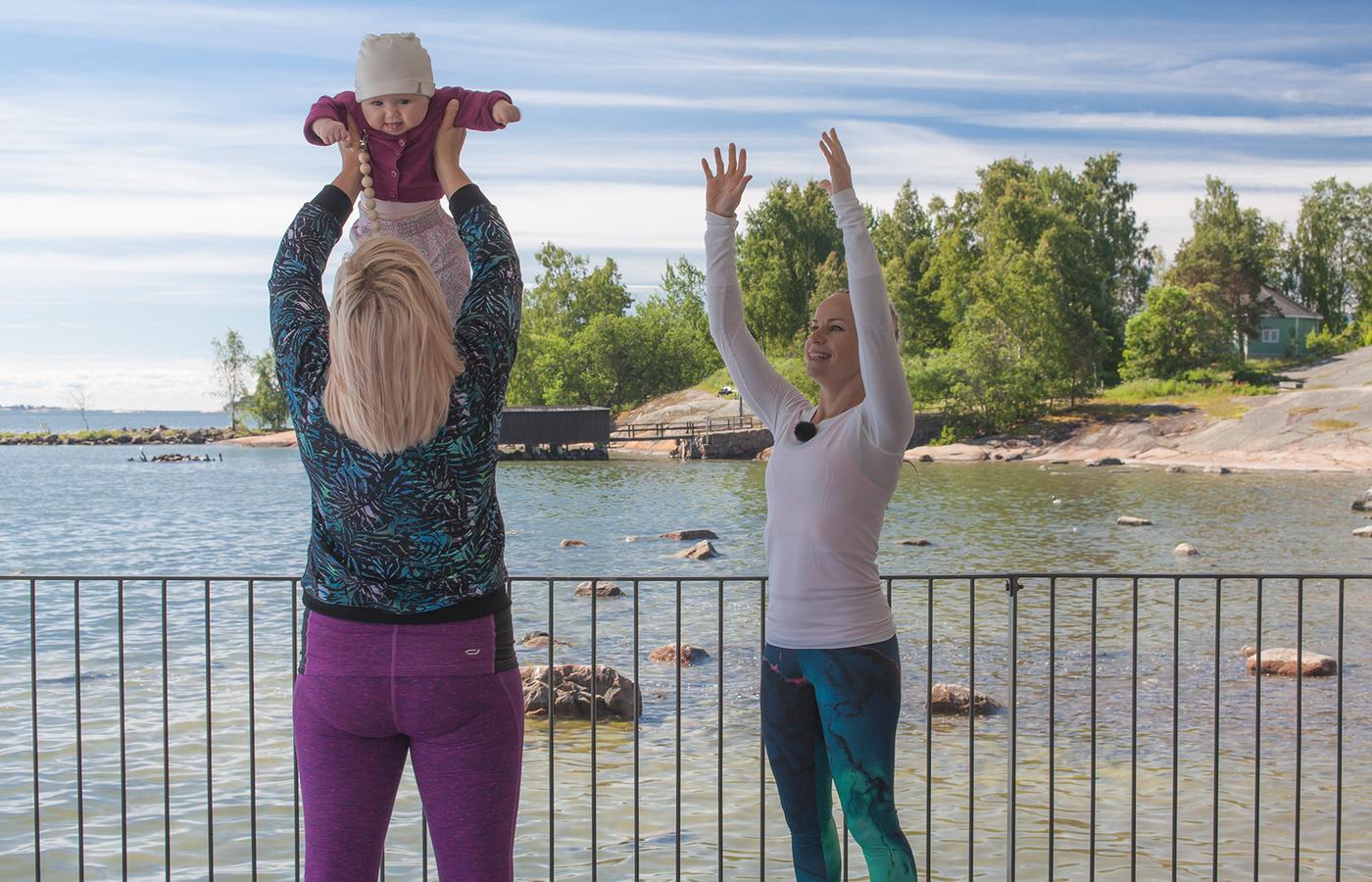 Keskivartalo kuntoon raskauden ja synnytyksen jälkeen