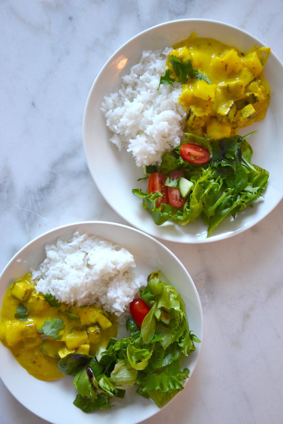 Tofucurry riisillä