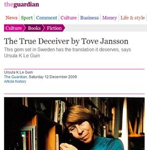 Ursula K. Le Guin kirjoittaa Tove Janssonista