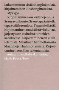 Maria Peura: Antaumuksella keskeneräinen