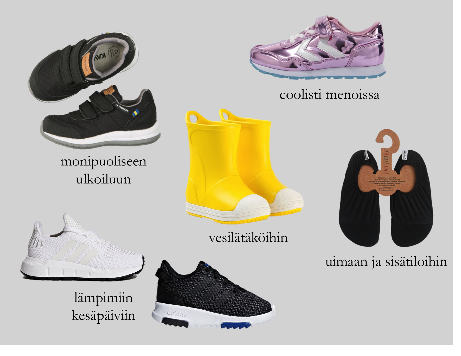 Kevään kenkävalinnat taaperolle