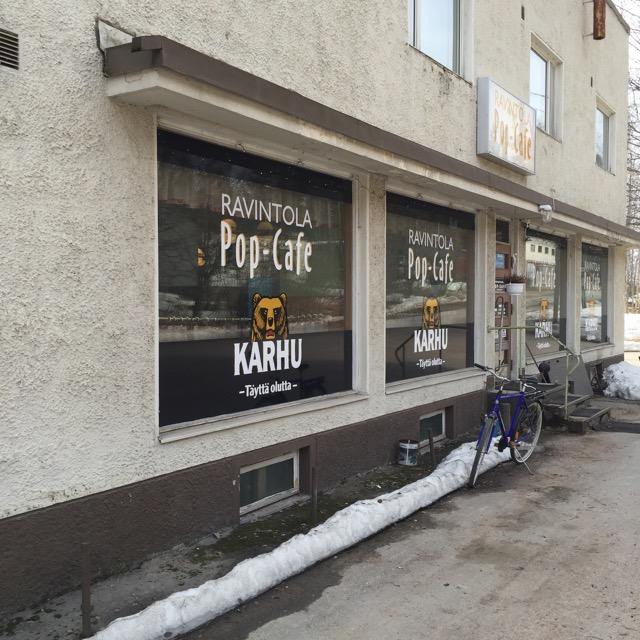Rosvopaistia Pop-Cafessa