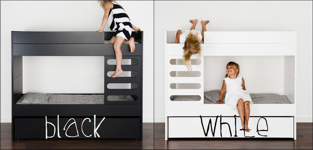Ava Room Ava Kids kerrossänky musta valkoinen