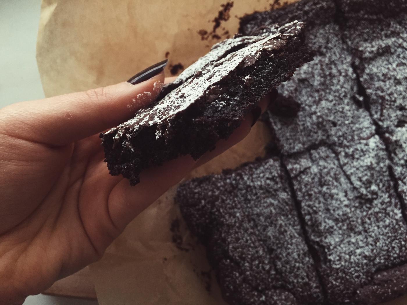 Slightly healthier vegan brownies