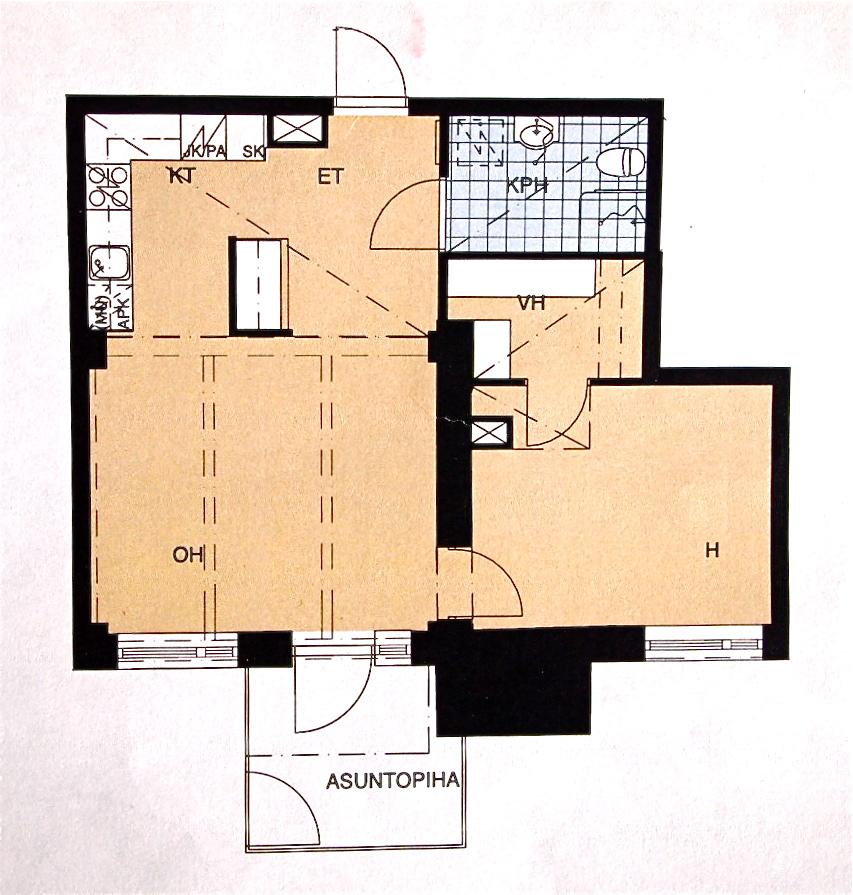 55 neliötä, osa 1 : Meidän kodin raamit