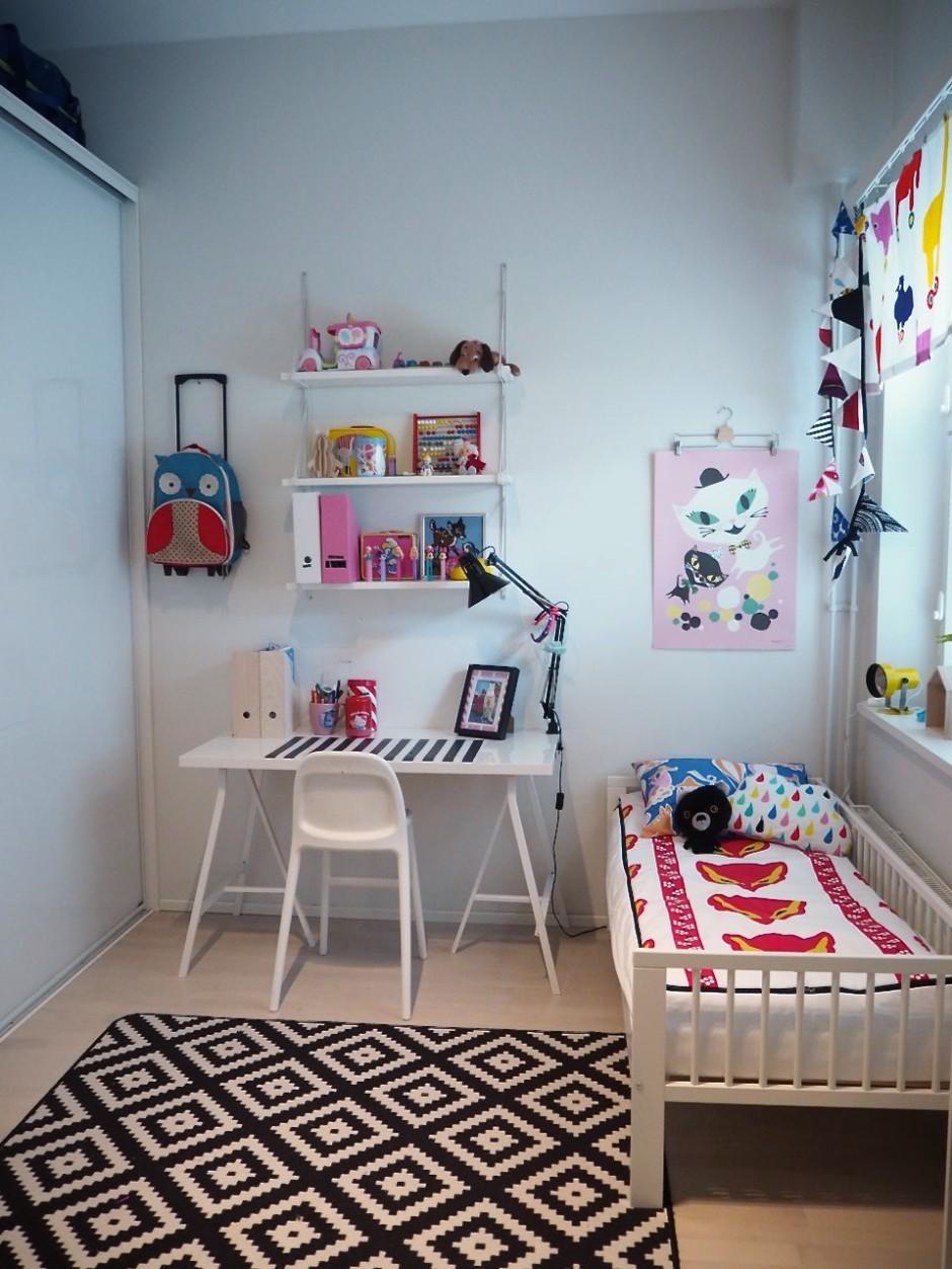 F:n huone ja uudet Ikea-kalusteet