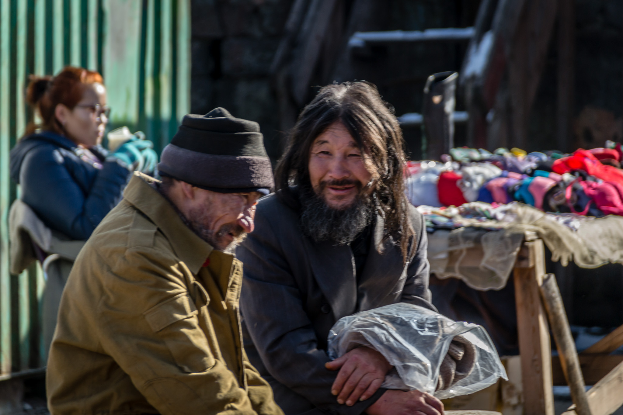 Alkoholistit markkinoilla Mongoliassa