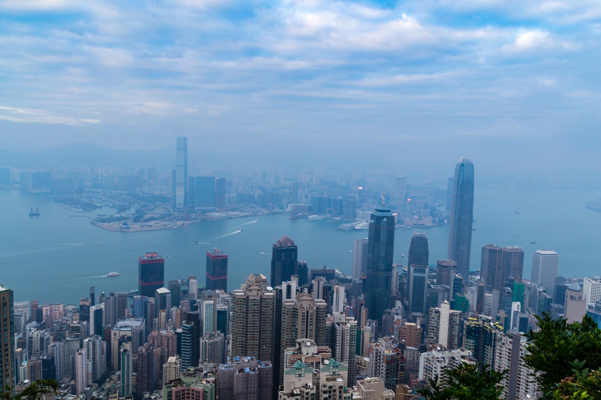 Näkymä Victoria Peakilta Hongkongissa