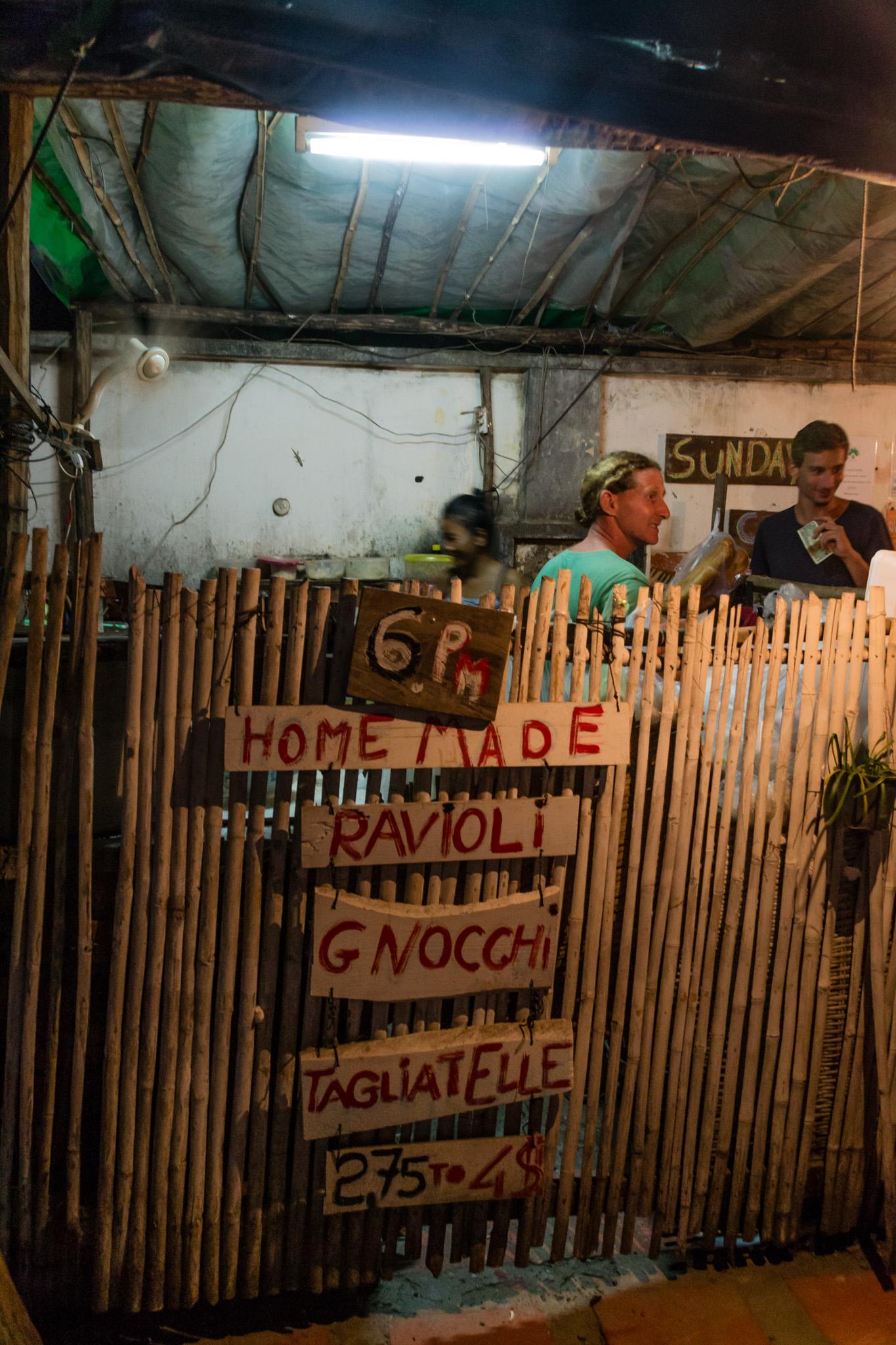 Italialainen ravintola Kampotissa