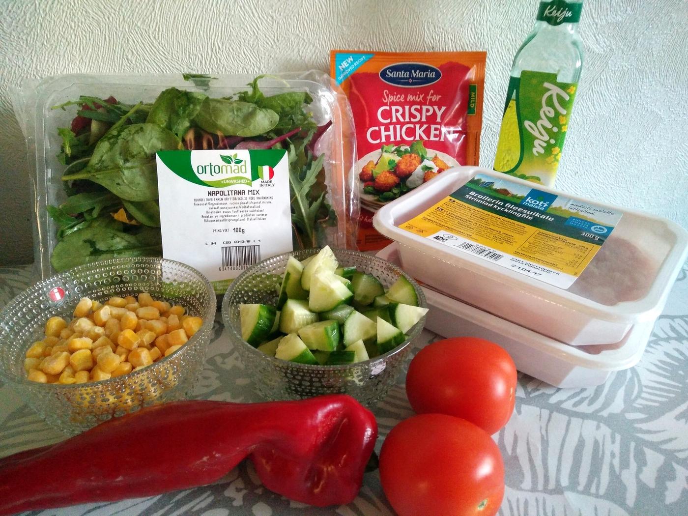 Crispy Chicken -salaatti
