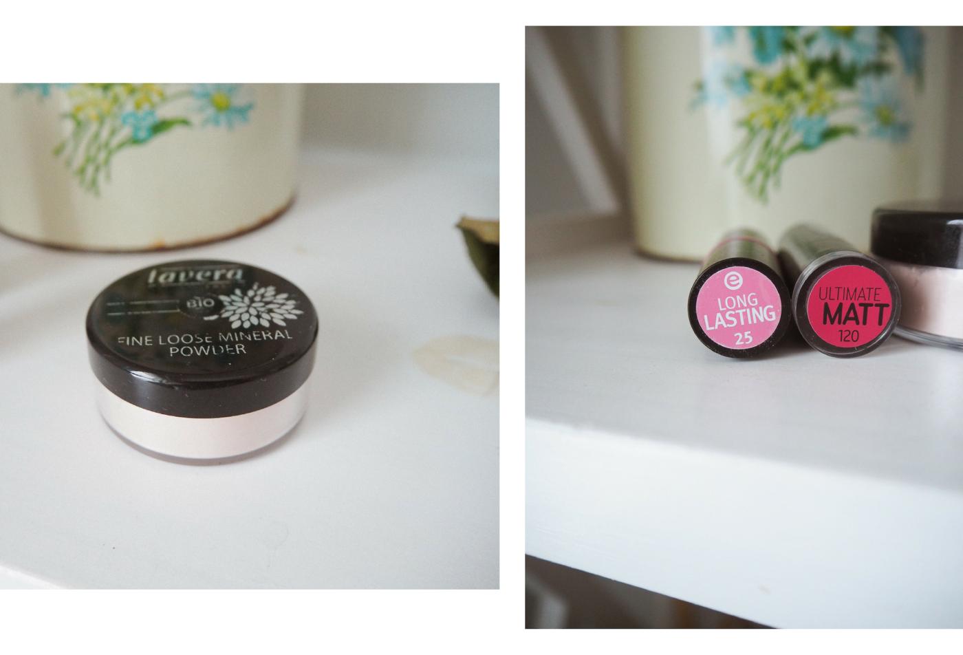 kosmetiikkasuosikit-lavera-puuteri-essence ja catrice-huulipunat.png