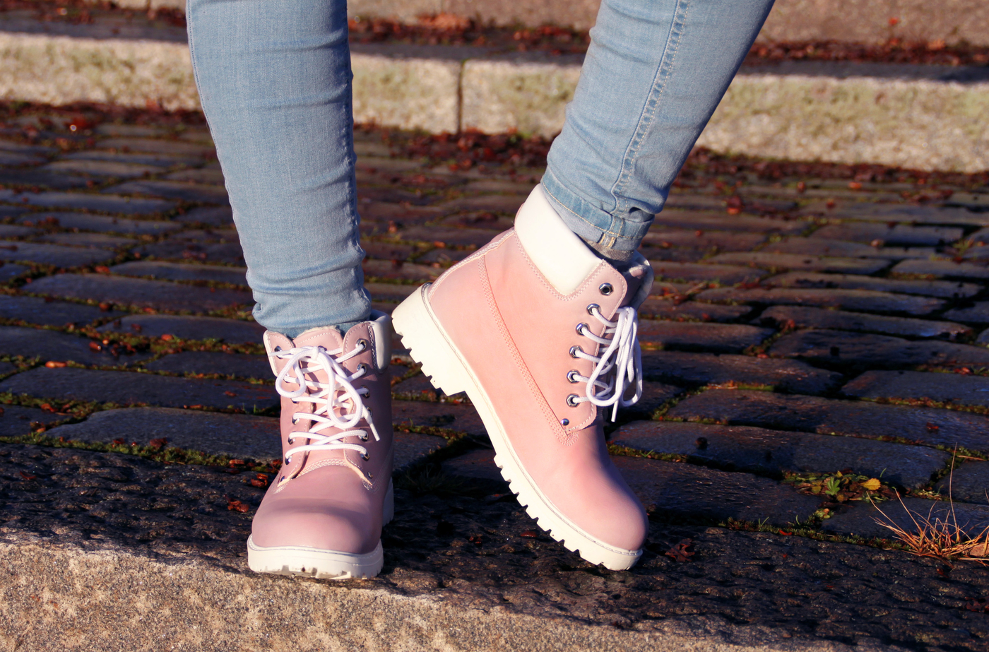 Old rose colored boots