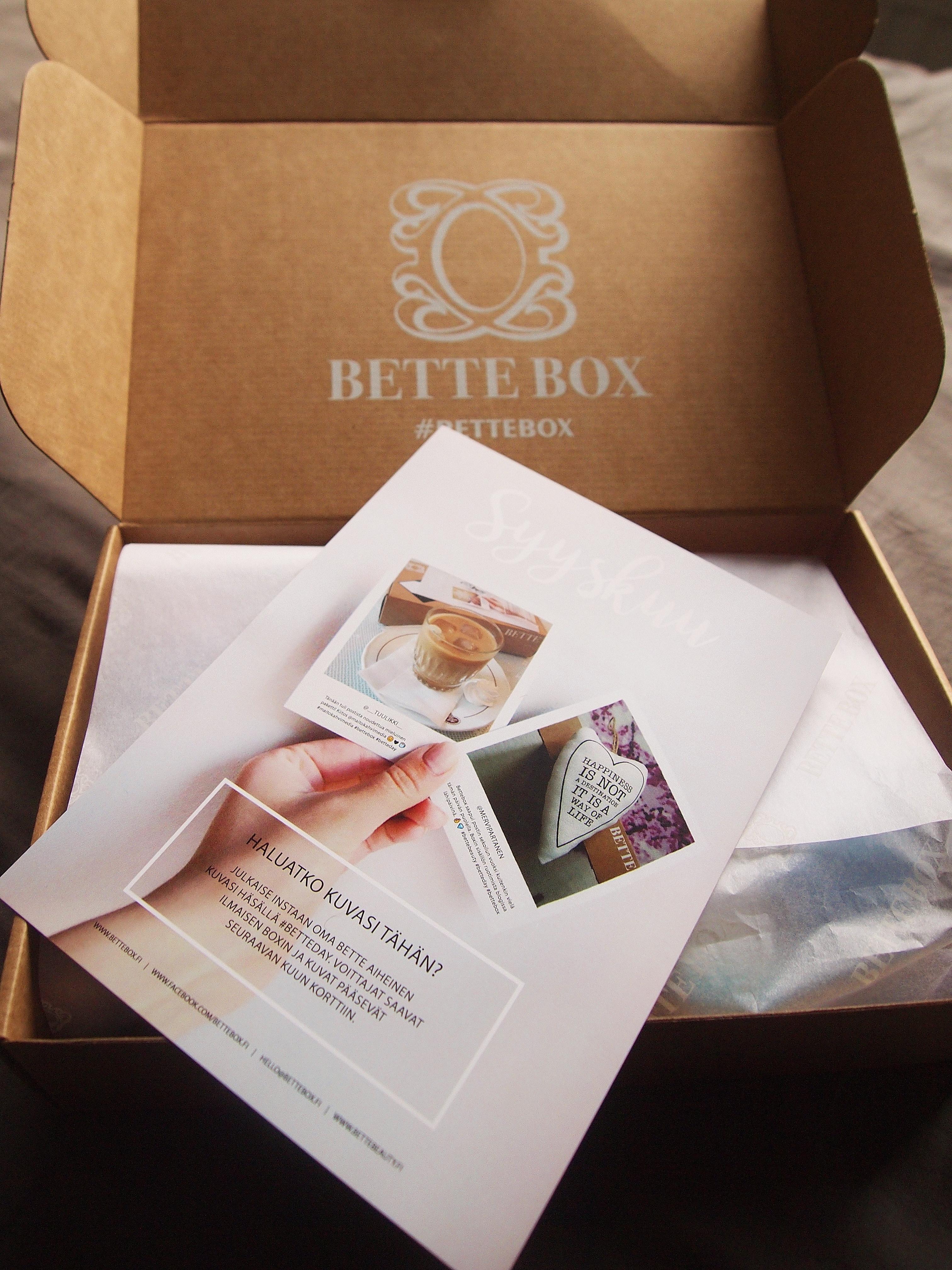 Bette Box syyskuu 2017
