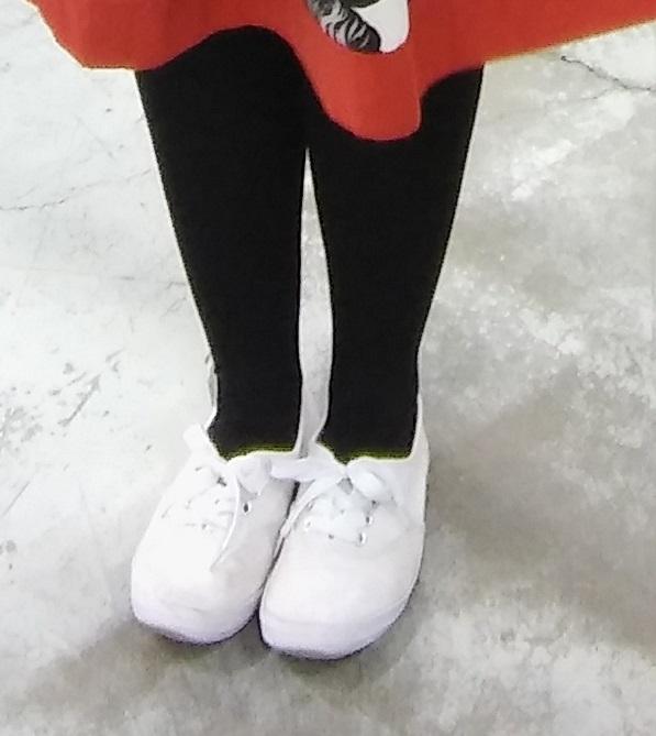 Janita mustat korkokengät valkoisella pilkkukuvioinnilla