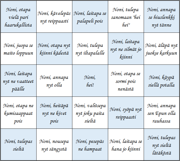 Noni-bingo