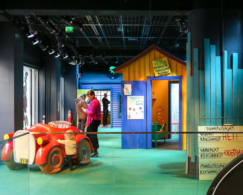 Pelle Peloton, maailman pelottomin keksijä, Päivälehden museossa