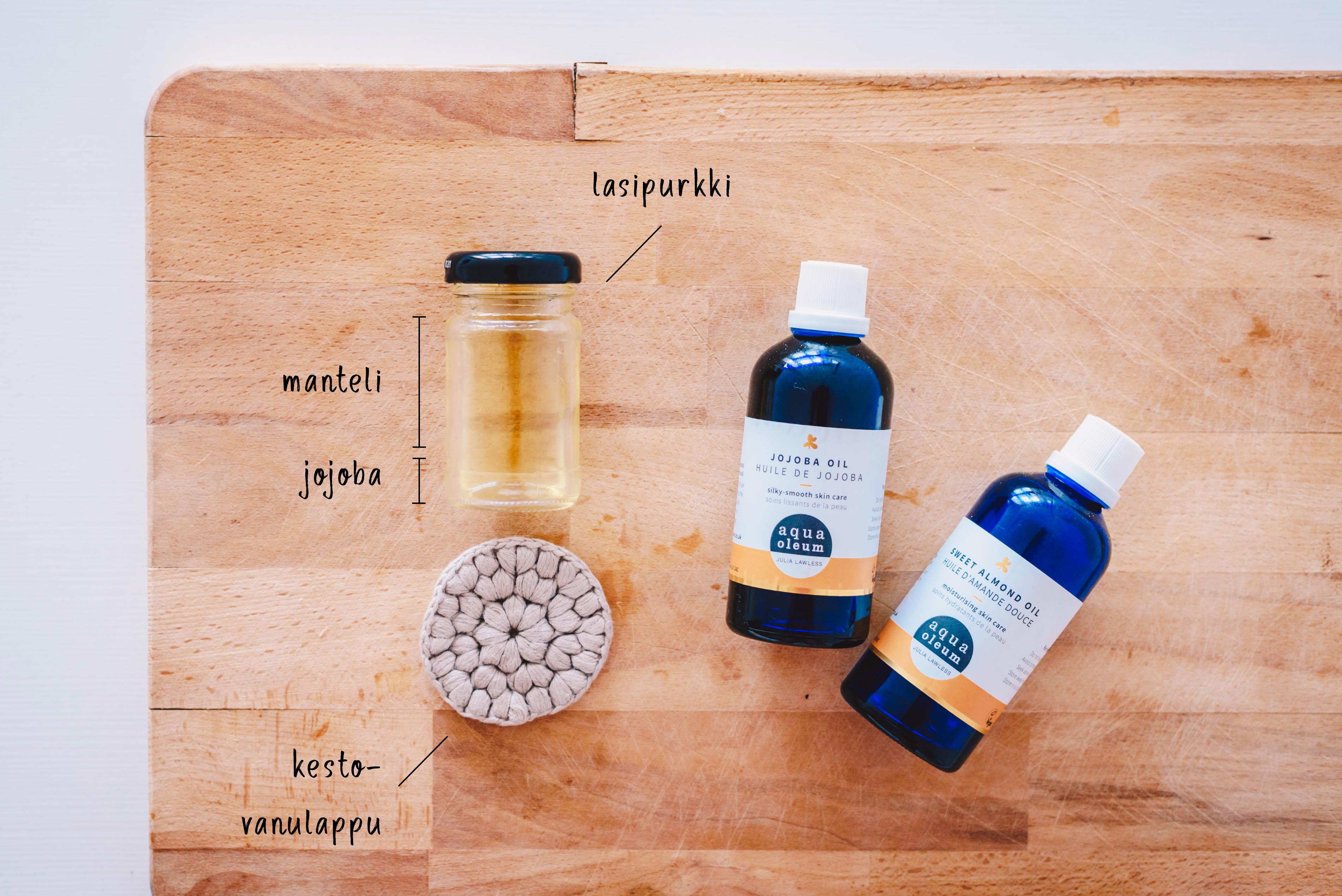 DIY: kotitekoinen puhdistusöljy kasvoille