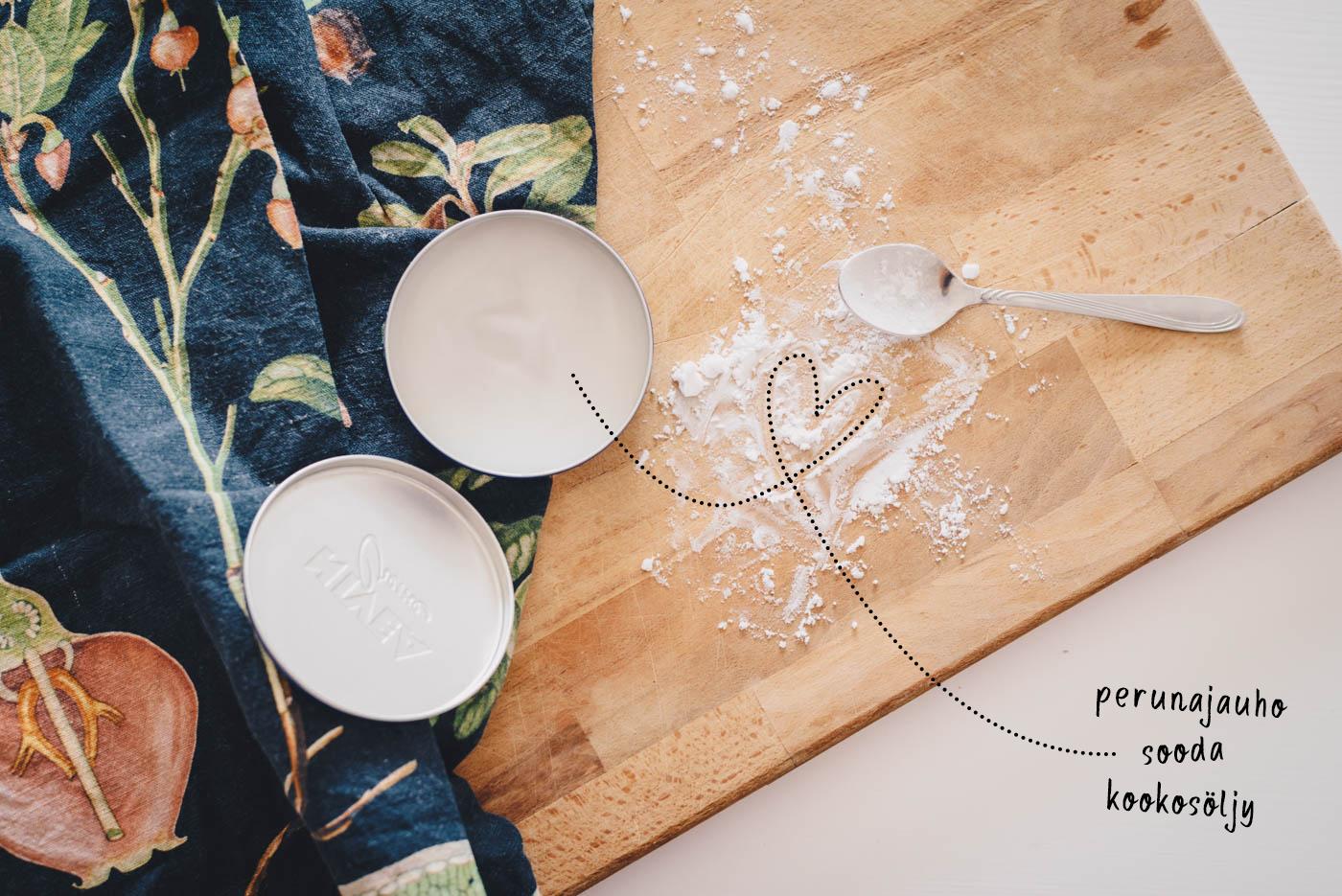 DIY: deodorantti perunajauhosta, soodasta ja kookosöljystä