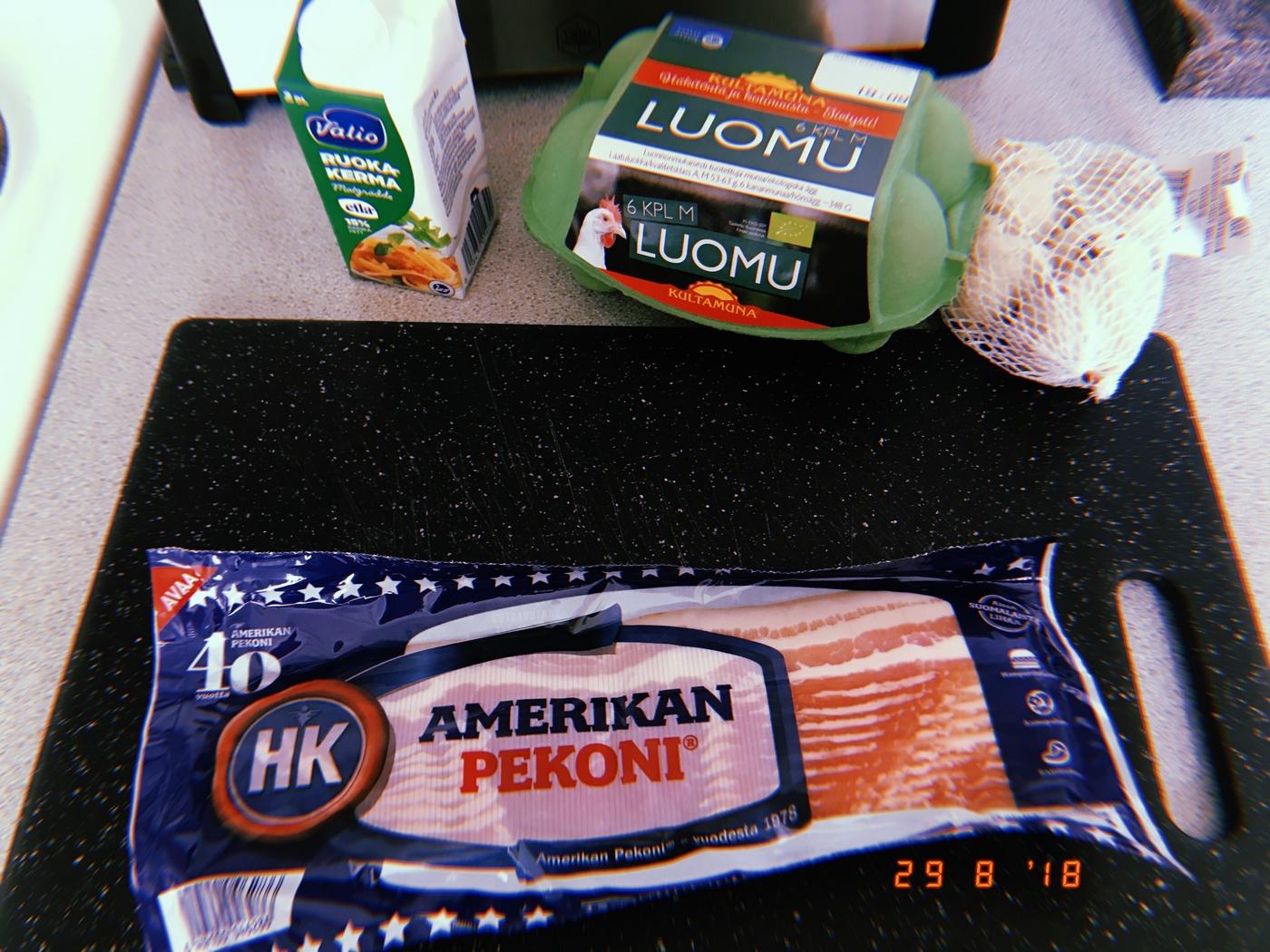 Carbonara ilman juustoa
