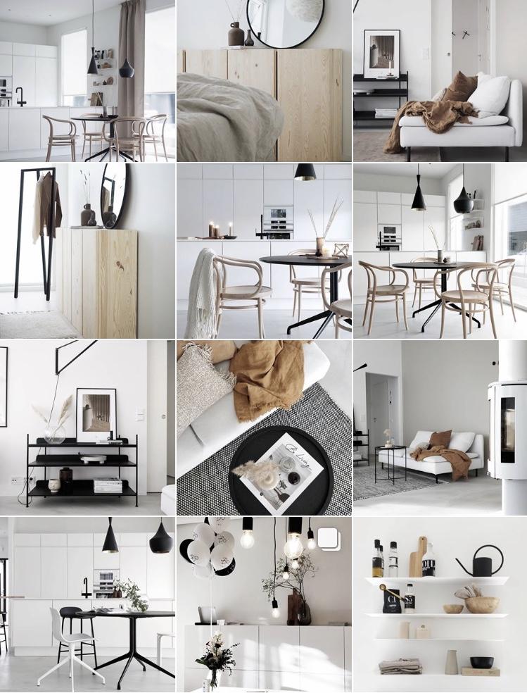 Inspiroivat kodit Instagramissa
