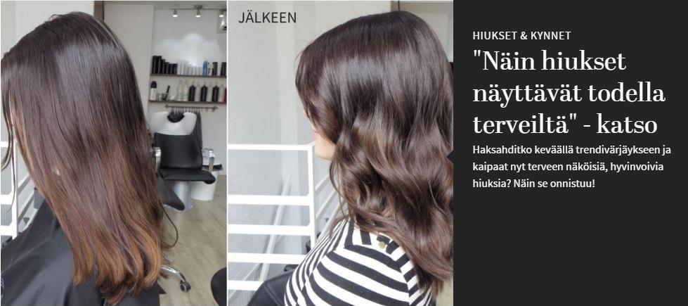 Makeover: Tummemmalla hiusvärillä terve kiilto kutreihin