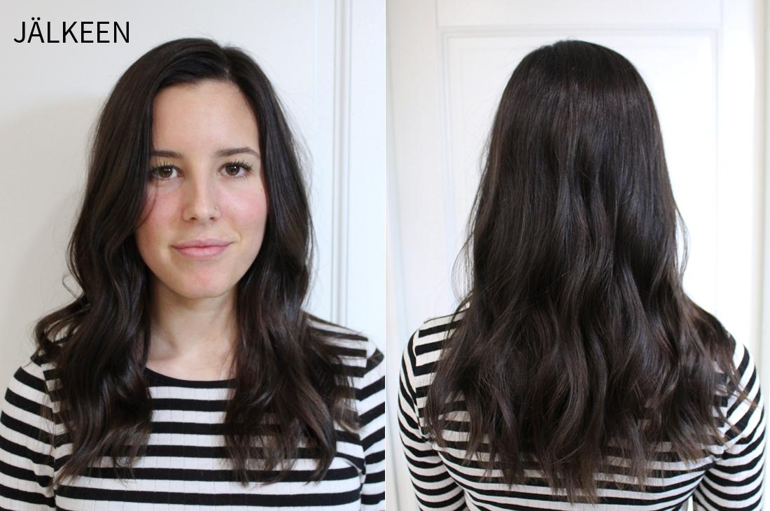 Tummanruskeat hiukset hiusmuutos jälkeen.jpg