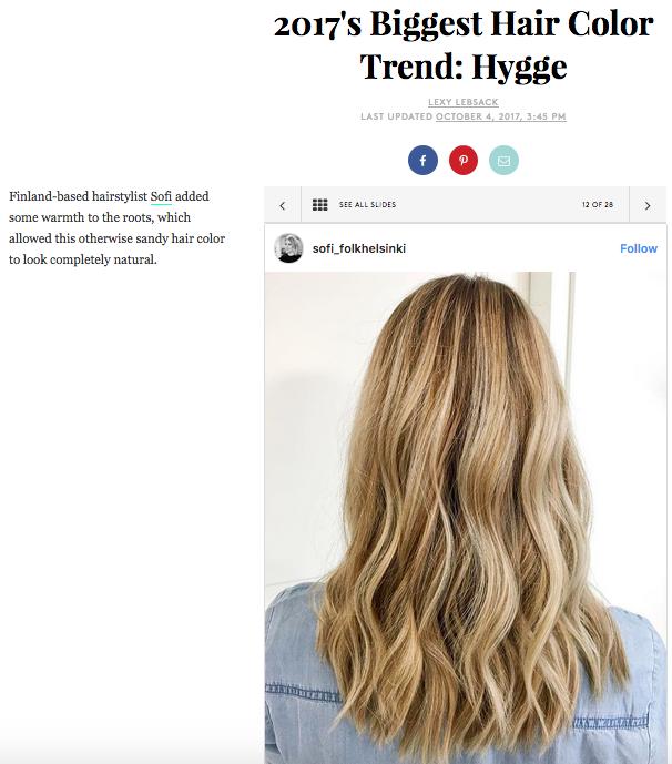 Hygge-trendi tulee myös hiuksiin!